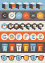 Coffee emblems set of design elements and labels Stock Images