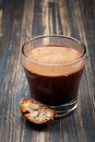 Coffee espresso and bisktotti cup of cookies Royalty Free Stock Image