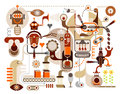 Coffee Factory - abstract vector illustration Royalty Free Stock Photography