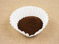 Coffee in filter Royalty Free Stock Photo