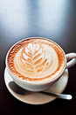 Coffee with foam art Royalty Free Stock Photography