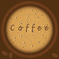 Coffee with foam top view background brown illustration art creative modern vector