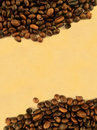Coffee frame against yellowed paper Royalty Free Stock Image