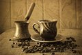 Coffee in grains Royalty Free Stock Photo