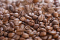 Coffee grains abstract background Royalty Free Stock Image
