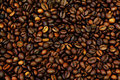 Coffee grains bulked in can Stock Photo