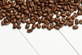 Coffee grains ona table Royalty Free Stock Photo