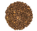 Coffee grains on a white background Royalty Free Stock Images