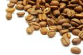Coffee grains of on a white background Stock Images