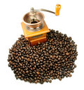 Coffee and grinder Royalty Free Stock Photo