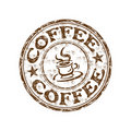 Coffee grunge rubber stamp Royalty Free Stock Photos