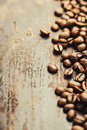 Coffee on grunge wooden background Royalty Free Stock Image