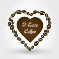 Coffee heart brown coffee concept Royalty Free Stock Images