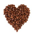 Coffee heart on white background see my other works in portfolio Stock Photo