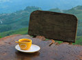 Coffee on hill Royalty Free Stock Images
