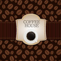 Coffee house menu template vector illustration Royalty Free Stock Images