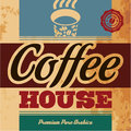 Coffee house retro menu Stock Photo
