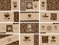 Coffee house set of business cards on Royalty Free Stock Images