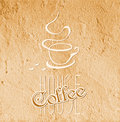 Coffee house symbol on grunge background Stock Photos