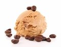 Coffee ice cream Royalty Free Stock Photo