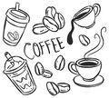 Coffee icon doodle style Royalty Free Stock Photography