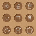 Coffee Icon Set Stock Images