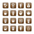 Coffee icon set vector illustration eps Royalty Free Stock Photo
