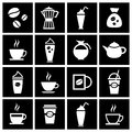 Coffee icon set vector illustration eps Royalty Free Stock Photos