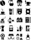 Coffee icons Stock Photo