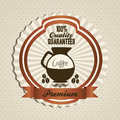 Coffee icons and labels illustration of illustration vector illustration Stock Photo