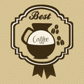 Coffee icons and labels illustration of illustration vector illustration Stock Photography
