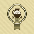 Coffee icons and labels illustration of illustration vector illustration Royalty Free Stock Image