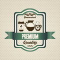 Coffee icons and labels illustration of illustration vector illustration Royalty Free Stock Photography