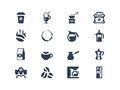 Coffee icons set of symbols easy to edit Stock Photo
