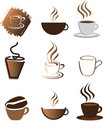 Coffee illustration set Stock Photography