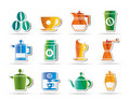 Coffee industry signs and icons Stock Photo