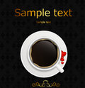 Coffee invitation background vector illustration this is file of eps format Royalty Free Stock Photography