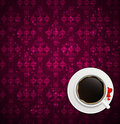 Coffee invitation background vector illustration this is file of eps format Stock Photo