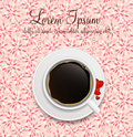 Coffee invitation background vector illustration this is file of eps format Stock Photography