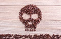 Coffee kills, skull and crossbones symbol Royalty Free Stock Photo