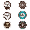 Coffee labels abstract premium on white background Stock Images