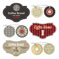 Coffee labels design template set in vintage style
