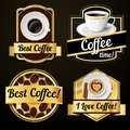 Coffee labels set Royalty Free Stock Photo