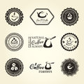 Coffee labels set of frames and with items Royalty Free Stock Image