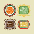 Coffee labels set vintage collection of label illustrations this vector illustration is layered for easy manipulation and custom Stock Photos