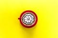 Coffee Latte With Flower Art
