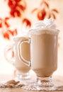 Coffee latte macchiato with cream Royalty Free Stock Photo