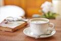 Coffee latte still life Royalty Free Stock Photo