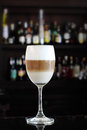 Coffee Latte in Wine Glass Royalty Free Stock Photo