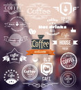 Coffee Logo. Old Town Stamp concept. Vector Retro coffee Badges and Labels Royalty Free Stock Photo